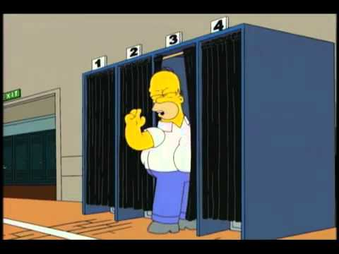 Homer Simpson tries to vote for Obama w/ electronic voting machine.flv