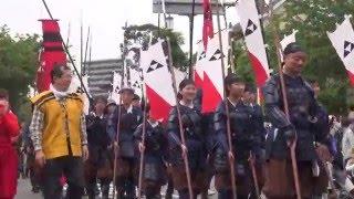 5月3日に神奈川県小田原市で行われた武者隊パレードにおける 北条早雲役...
