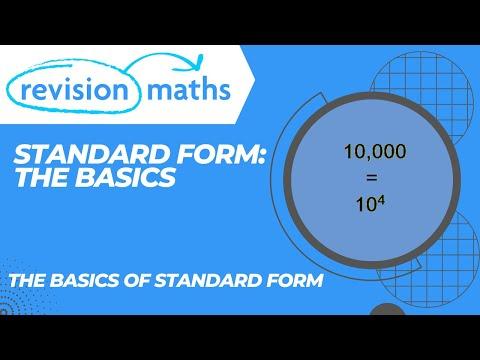 Standard Form Youtube