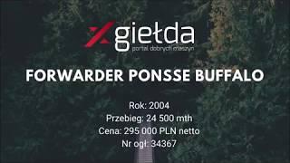 Xgiełda FORWARDER PONSSE BUFFALO na sprzedaż