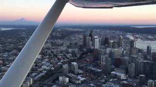 Flight above Seattle