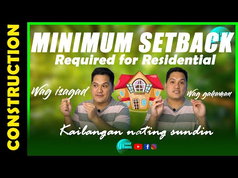 Minimum Required SETBACKS for Residentials and Explanation for Type Residential Use or Occupancy