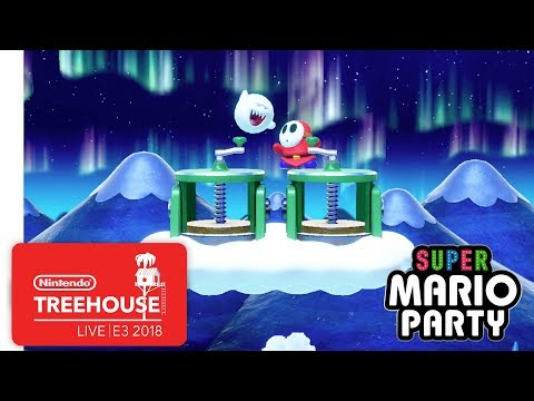 Super Mario Party Gameplay Pt. 2 - Nintendo Treehouse: Live | E3 2018