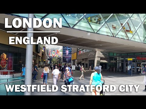Walking through Stratford Westfield shopping centre, in East London
