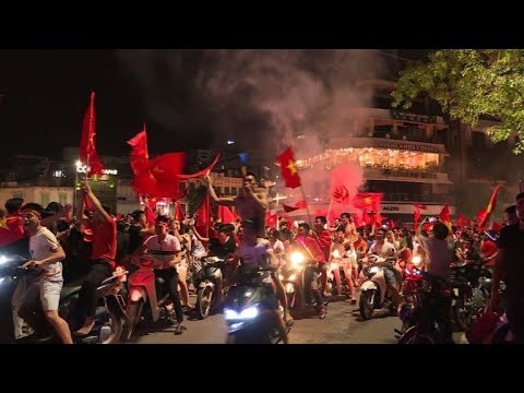 Vietnamese Football Fans Celebrate Asia Games Quarterfinal Win