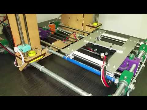 RepRap Prusa i3 with radial bearing linear modules Y axis
