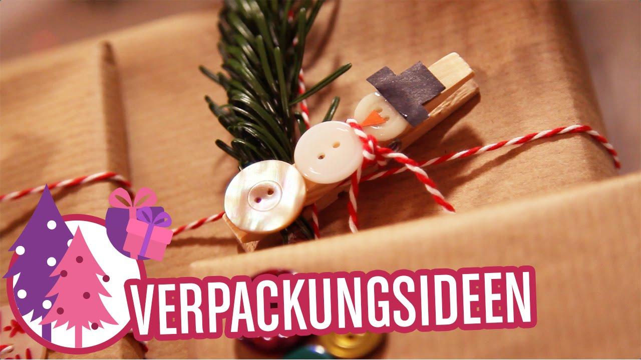 Kreativ Geschenke verpacken | Inspirationen & Knöpfe - YouTube