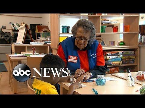 95-year-old Celemtene Bates