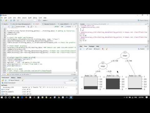 How to use C5.0 decision tree with GIS data for prediction and classification in R environment?
