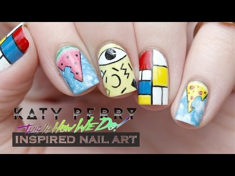 Katy Perry This Is How We Do Inspired Nail Art Youtube