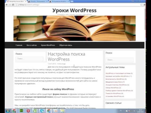 Настройка поиска по сайту WordPress