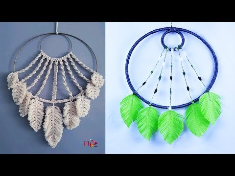 Easy Way To Make Feathers Dream Catcher Using Waste Materials | Best out of Waste Craft Ideas