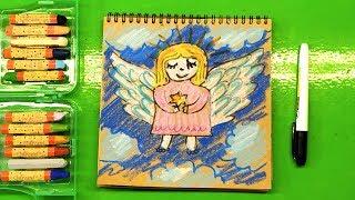 Рождественский Ангел / как нарисовать Ангела на Рождество от РыбаКит