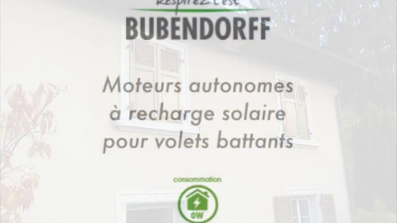 bubendorff motorisation solaire de volets battants youtube. Black Bedroom Furniture Sets. Home Design Ideas