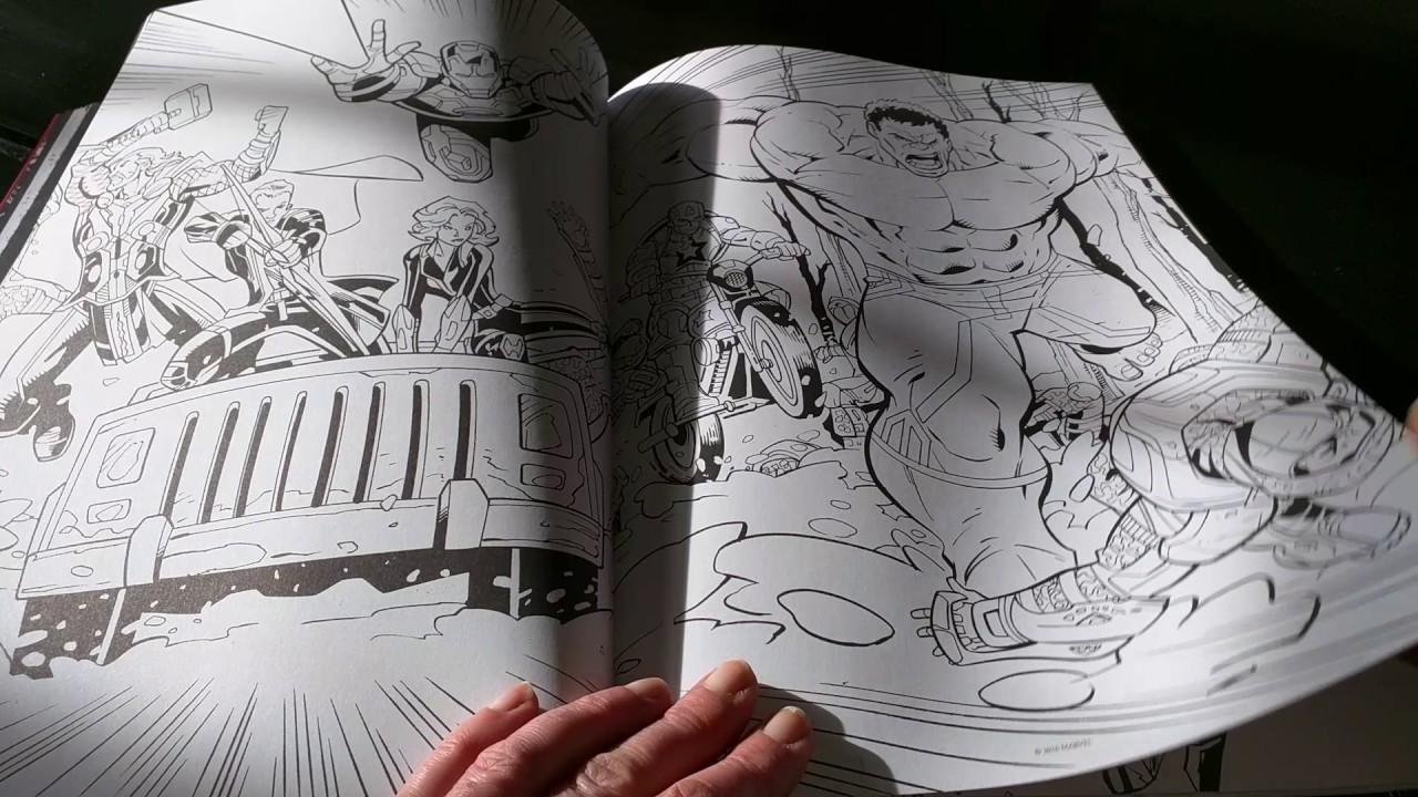 Livre de Coloriage anti stress adulte Marvel cinématic universe  colorier