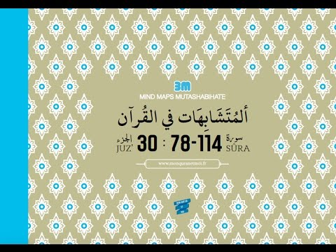 Présentation de la collection 3M Mind Maps Mutashabihates (Memoriser le Coran)