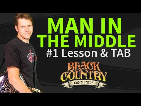 How to play Man In The Middle Guitar Lesson & TAB - Black Country Communion