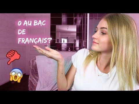 MON 0 AU BAC DE FRANÇAIS, MON ANNÉE DE STMG : JE VOUS DIT TOUT!