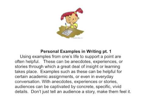 Exemplification and Illustration in Writing: Short Movie