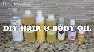 DIY Hair & Body Oil | Bath & Body Series | MariaAntoinetteTV