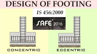 Design Of Isolated And Eccentric Footing In Safe Software As Per IS Code 456 - Kartik Saini In Hindi screenshot 4