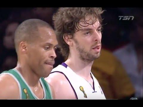 PJ Brown (Age 38) shuts down Pau Gasol - 2008 NBA Finals