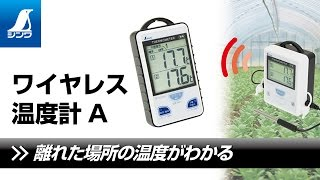 73241/ワイヤレス温度計  A  最高・最低  隔測式ツインプローブ  防水型
