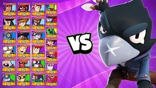 Crow 1v1 vs EVERY Brawler | Know when to super and when to stay away