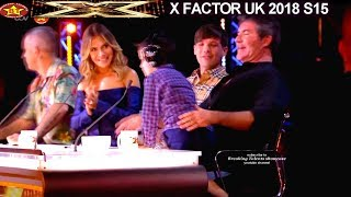 Louis Tomlinson Meets Eric Cowell -Son Makes Simon See Things Positively AUDITIONS  X Factor UK 2018