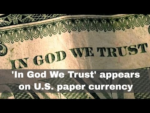 1st October 1957: 'In God We Trust' Appears On U.S. Paper Currency For The First Time