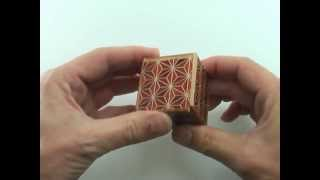Solution For Japanese Puzzle Box - Karakuri Small Box #1