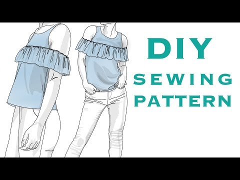DIY Cold Shoulder Ruffle Top Sewing Pattern