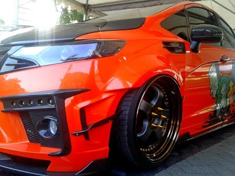 Custom Wide Body Kit Honda Jazz Fit Hellaflush Lowered Modified