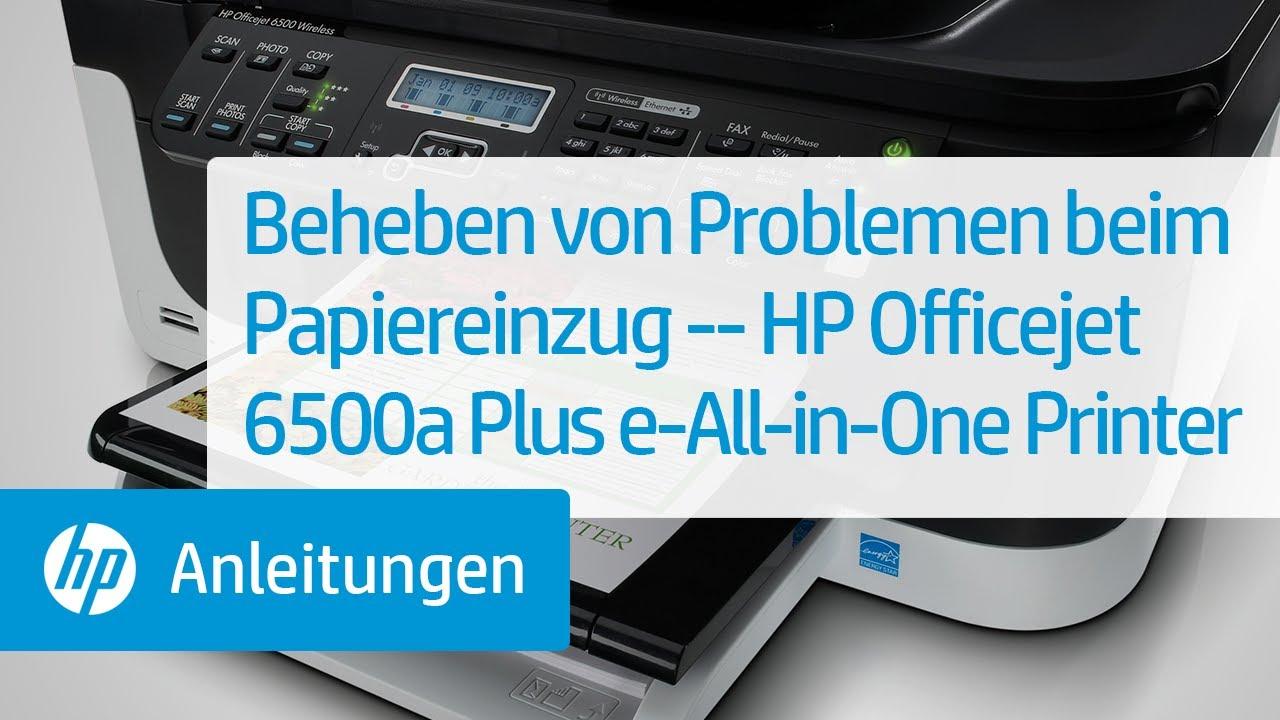 Beheben Von Problemen Beim Papiereinzug Hp Officejet