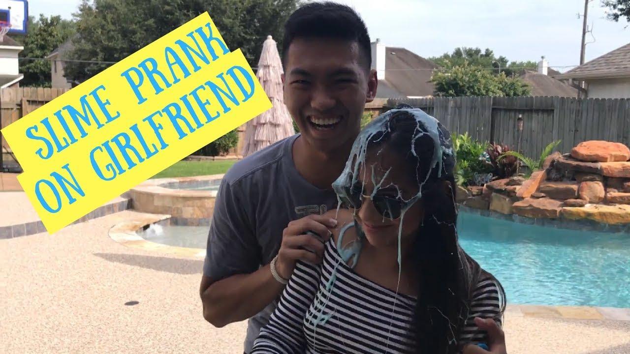 Sticky Slime Prank On Girlfriend Full Makeup On How To Make Slime Prank