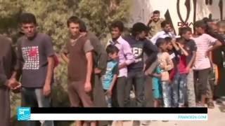 مساعدات إنسانية تنتظر على الحدود السورية التركية