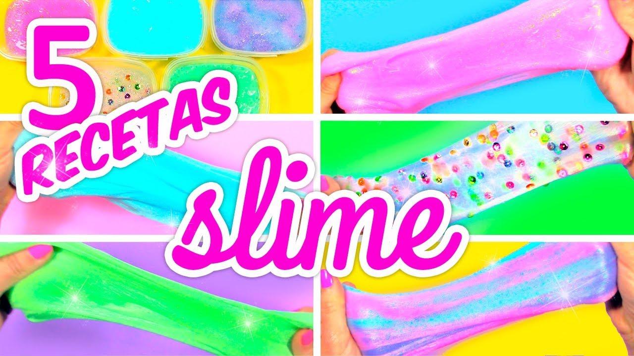 Cómo Hacer Slime Sin Bórax 5 Recetas Youtube