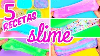 HOW TO MAKE SLIME WITHOUT BORAX 5 RECIPES