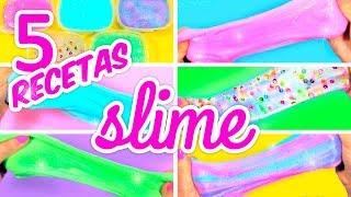 cómo hacer slime sin bórax 5 recetas