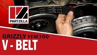 Yamaha Grizzly 700 Drive Belt Change   Yamaha YFM700 V-Belt   Partzilla.com