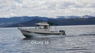 C-Dory 16 Cruiser, Motoring in short chop. Ride along with us!