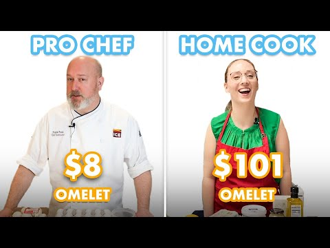 $101 vs $8 Omelet: Pro Chef & Home Cook Swap Ingredients | Epicurious
