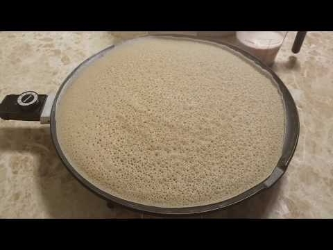 How To Make Injera With Teff And Barley  Flour/ የጤፍ እና የገብስ እጀራ።
