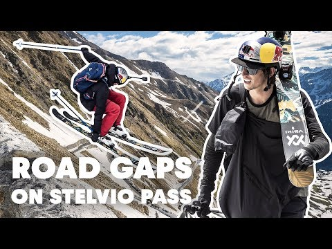Freestyle Skiing Down The Stelvio Pass | Road Gaps w/ Bene Mayr & Markus Eder