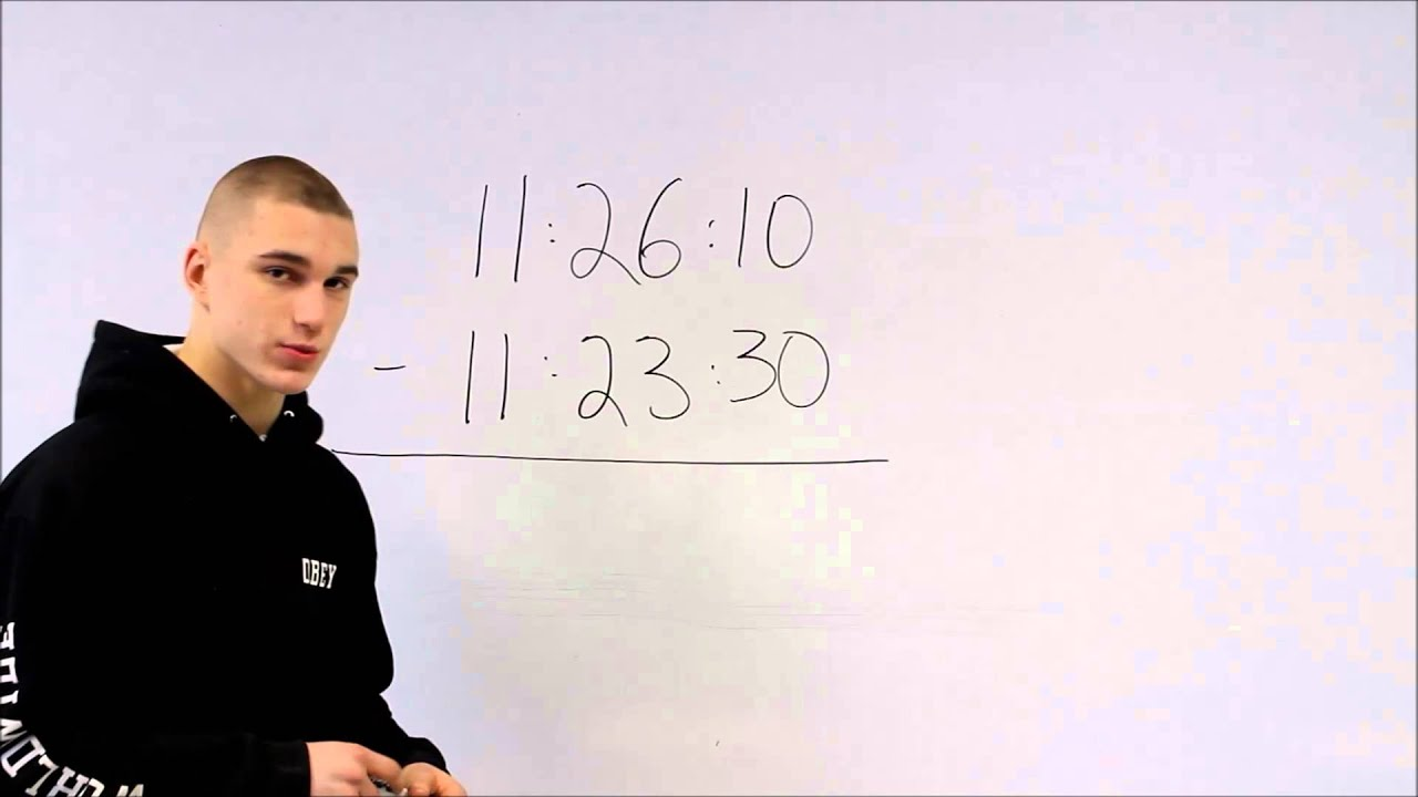 images How to Subtract Time