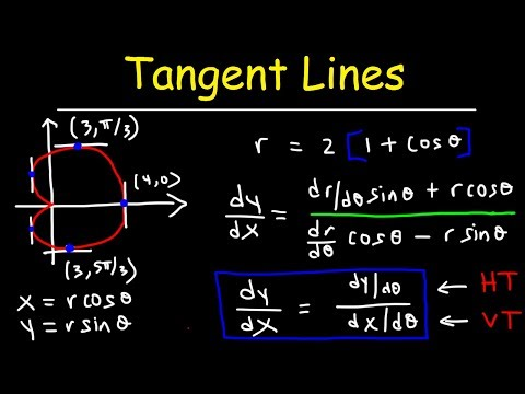 Horizontal Tangent Lines & Vertical Tangent Lines In Polar Form