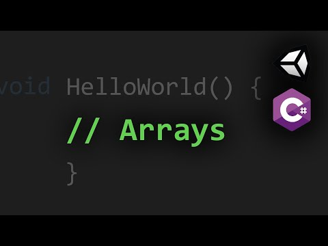 Using Single and Multi-Dimensional Arrays in C# and Unity3D