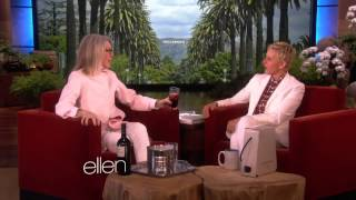 Diane Keaton on Wine, Tantric Sex and Marriage on  Ellen show on  july 2014