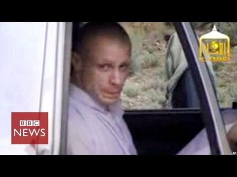 Taliban video of moment Bergdahl was freed - BBC News