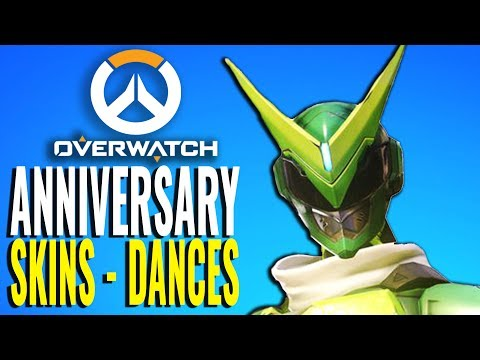 All Anniversary Skins & Every Dancing Emotes [Overwatch]